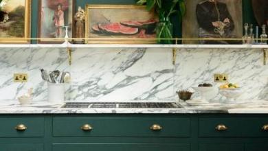 koyu yeşil mutfak dekorasyonu 2018 2019
