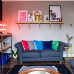 küçük salonlar için renk fikirleri