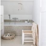 parlak fayans banyo dekorasyon fikirleri