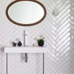 parlak fayanslarla banyo dekorasyonu