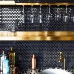 parlak siyah fayans ev dekorasyon fikirleri 2019