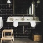 siyah parlak fayans banyo dekorasyon fikirleri 2018 2019