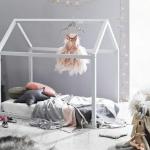 çadır yataklı kız bebek odası