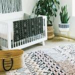 etnik tarz kız bebek odası dekorasyonu