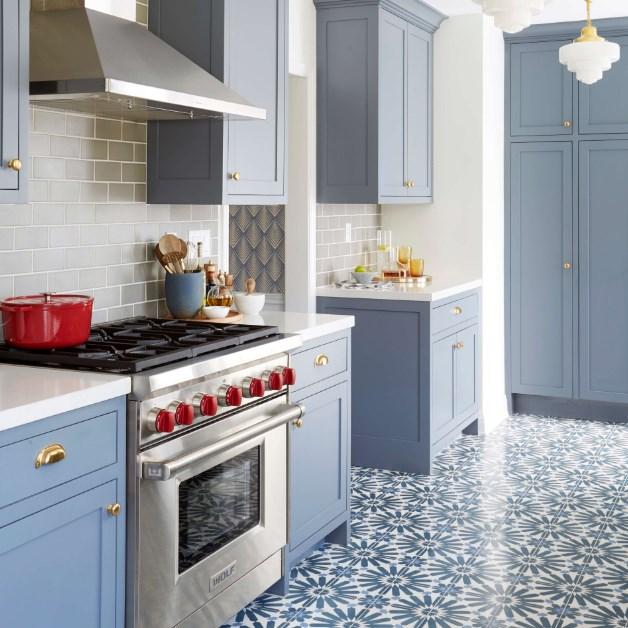 grimsi mavi mutfak dolapları