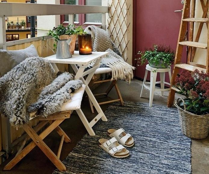 küçük balkonlar için dekorasyonlar