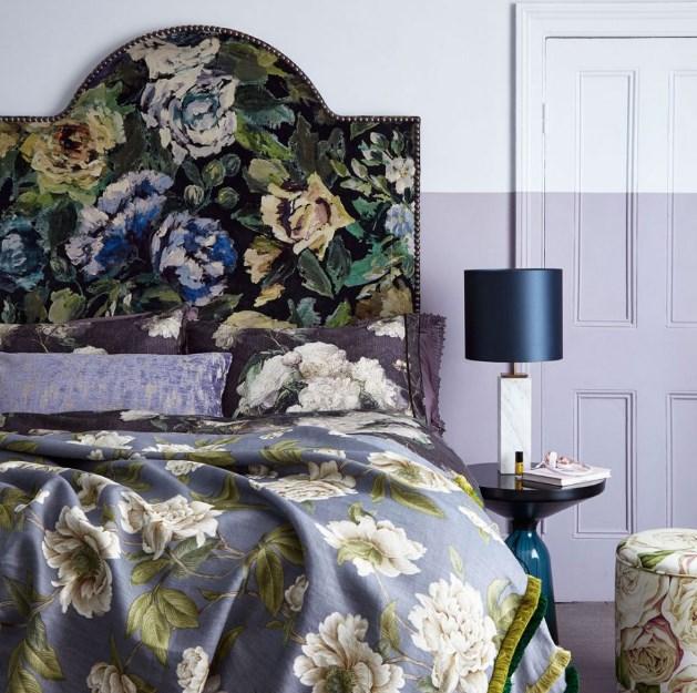 mor yatak odası dekorasyon fikirleri 2018 2019