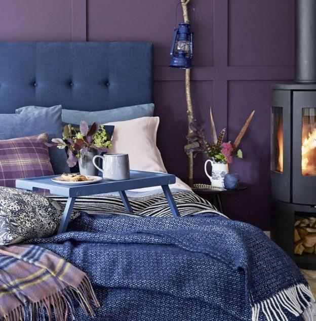 mor yatak odası fikirleri 2018 2019