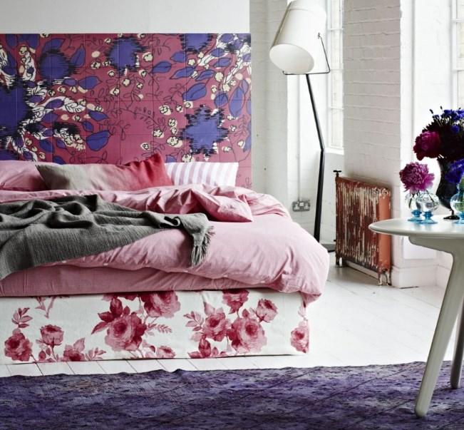 mor yatak odası fikirleri 2018