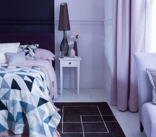 mor yatak odası fikirleri 2019