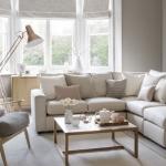 Nötr oturma odası dekor fikirleri