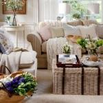 nötr oturma odası dekorasyonu