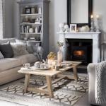 Nötr renklerde oturma odası dekor fikirleri