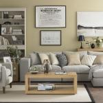Nötr renklerde oturma odası fikirleri