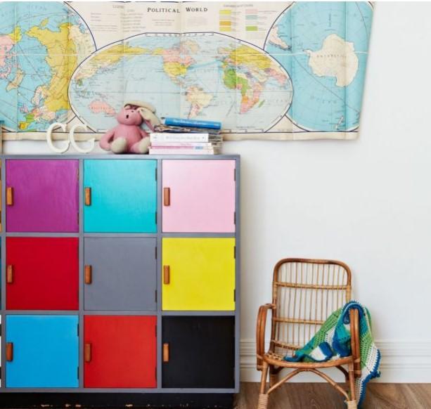 renkli çocuk odası dekorasyonu fikirleri 2018