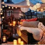romantik küçük balkon dekorasyonu
