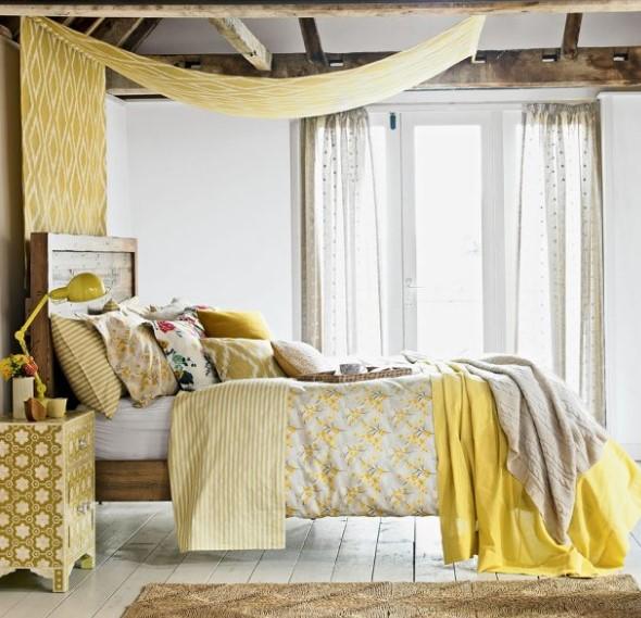 yatak dekor fikirleri
