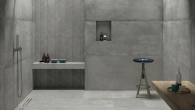 beton görünümlü banyo seramik