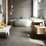 beton görünümlü banyo seramik modelleri 2019