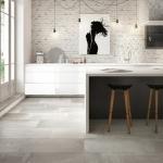 beton görünümlü mutfak zemin kaplamaları