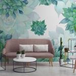 büyük çiçekli duvar kağıdı tasarımları 2018