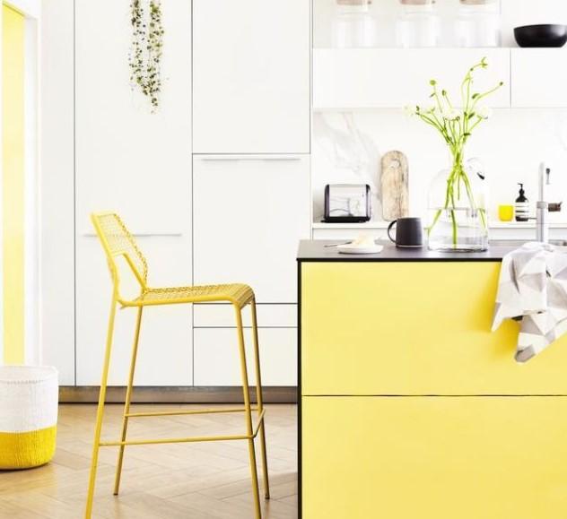 canlı renklerde mutfak modelleri 2019