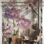 çiçek desenli duvar kağıdı modelleri 2019