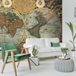 dünya haritalı duvar kağıdı