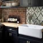eski tarz fayanslarla mutfak tezgah arası dekoru