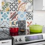 fırın üstü dekoru için patchwork fayans