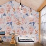gül desenli duvar kağıdı modeli