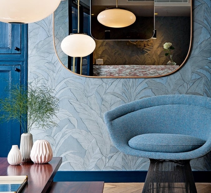 mavi desenli duvar kağıdı modeli 2019