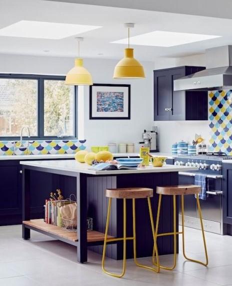 mavi mutfak modelleri 2019