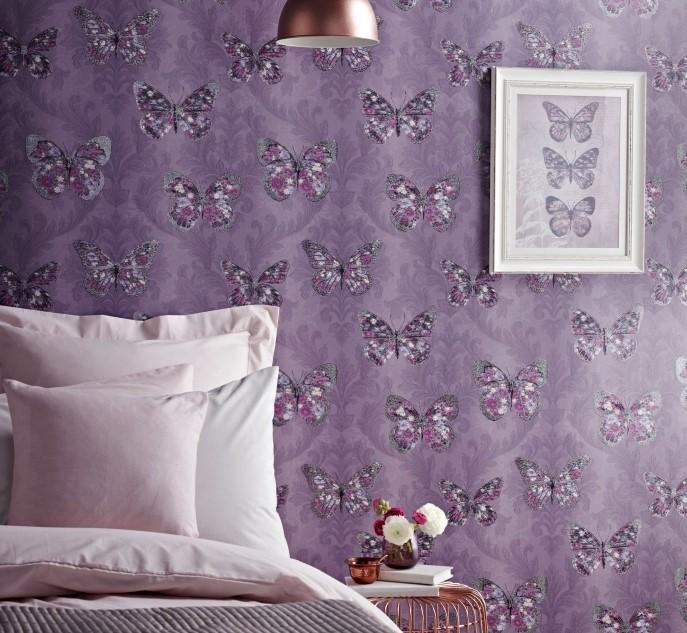 mor yatak odası duvar kağıdı 2019