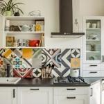 mutfak tezgah aras için patchwork fayans modelleri