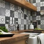 mutfak tezgah arası dekorasyonu için patchwork fayanslar