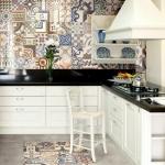 mutfakta kullanmak için patchwork fayans modelleri