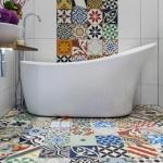 patchwork fayanslar ile banyo tasarımları