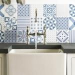 Patchwork fayanslar ile mutfak tezgah üstü dekorasyonları