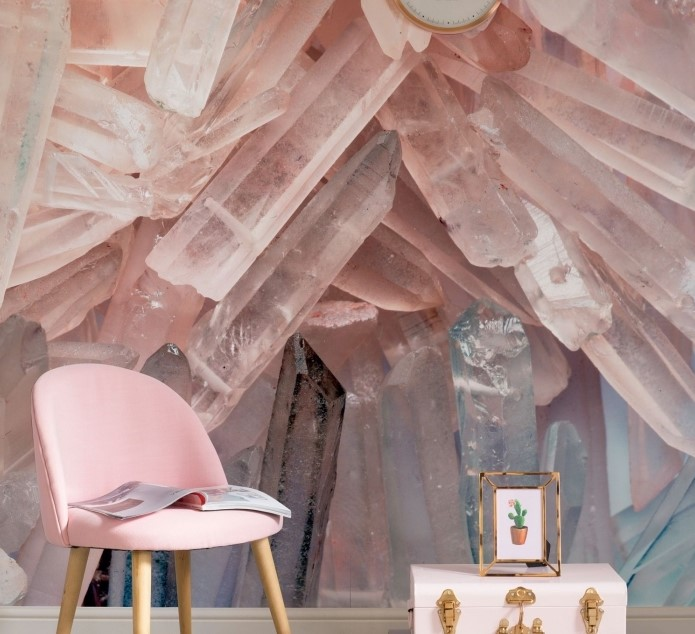 Pudra pembe duvar kağıdı modelleri