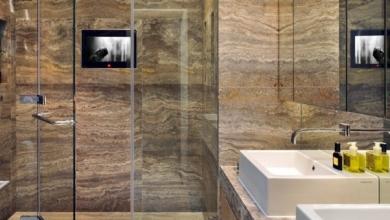 Traverten Banyo Tasarımları
