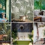 tropikal desenli duvar kağıdı modelleri 2018 2019