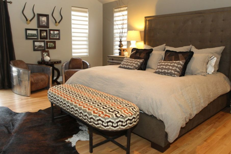 yatak odası dekoratif desenli bank modeli 2018