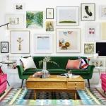 yeşil koltuk ev dekorasyonu 2019