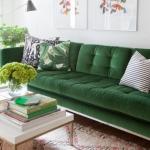 yeşil koltukla dekorasyon modelleri 2019