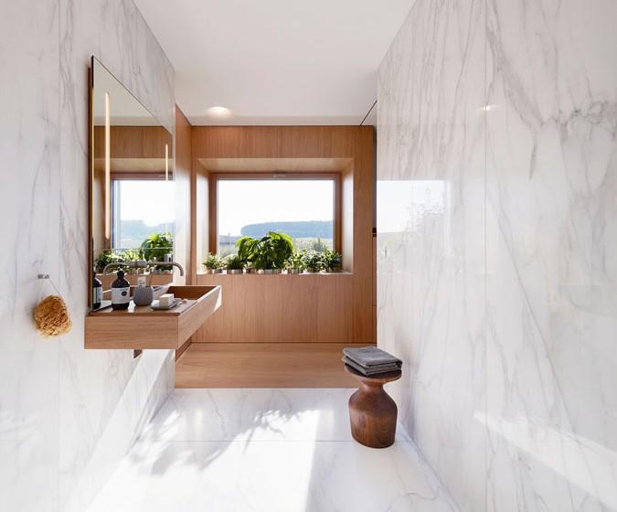 ahşap ve mermer banyo tasarımları 2019
