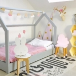 çocuk odası yer karyolası 2018