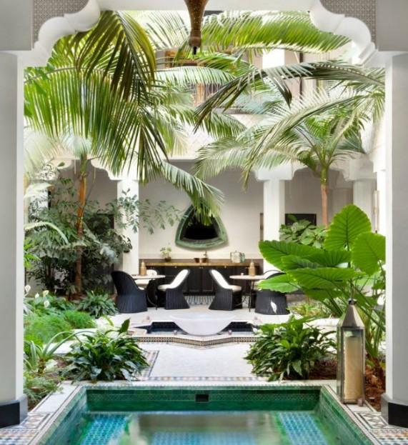 ev dekorasyonu trendleri tropikal baskılar