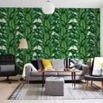 iç tasarım 2018 tropikal desenler