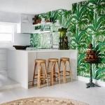 iç tasarım trendleri tropikal desenler 2019